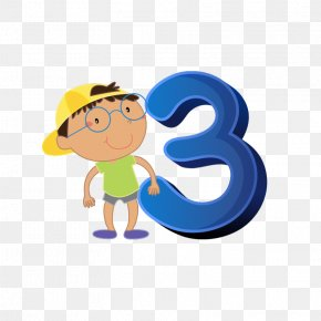 Cartoon Numbers And Kids - Number Numerical Digit Clip Art PNG