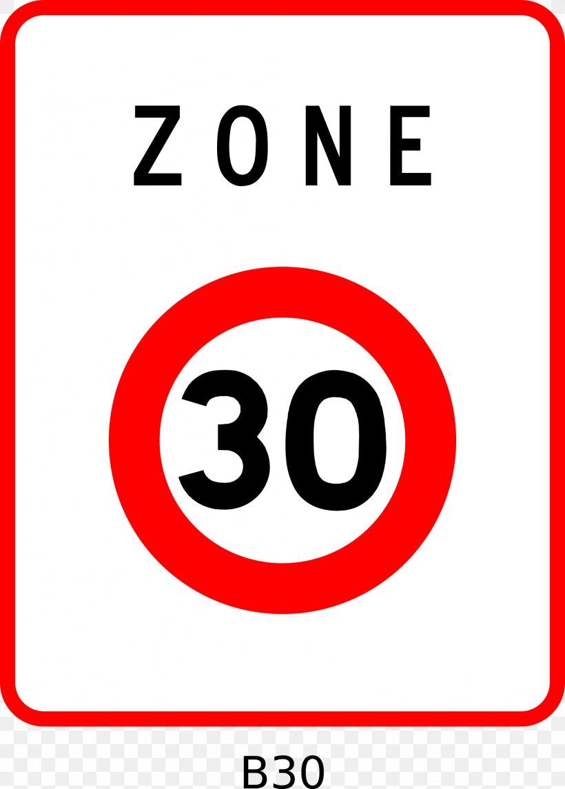 Panneau De Signalisation D Une Zone 30 En France 30 Km H Zone Road Kilometer Per