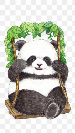 Panda - Giant Panda Bear Drawing PNG