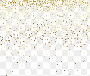 Gold Stars Falling - White Pattern PNG