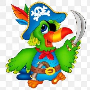 Bullfinch - Pirate Parrot Piracy Clip Art PNG