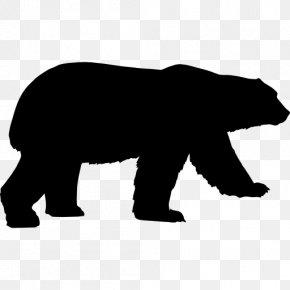 Bear - American Black Bear Growling Clip Art PNG