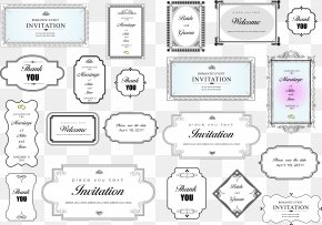 Simple Invitation Card Title Border Vector PNG