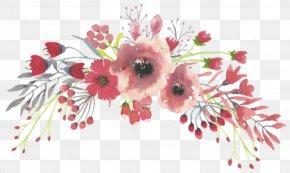 Painting - Watercolour Flowers Watercolor Painting Floral Design Transparent Watercolor PNG