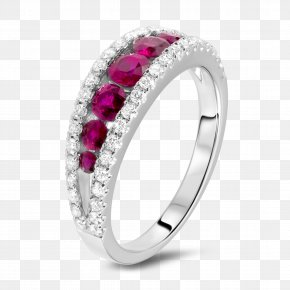 Ring - Ring Jewellery Gemstone Ruby Diamond PNG