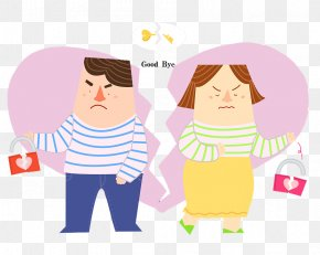 Cartoon Illustration Parting Goodbye - Cartoon Illustration PNG