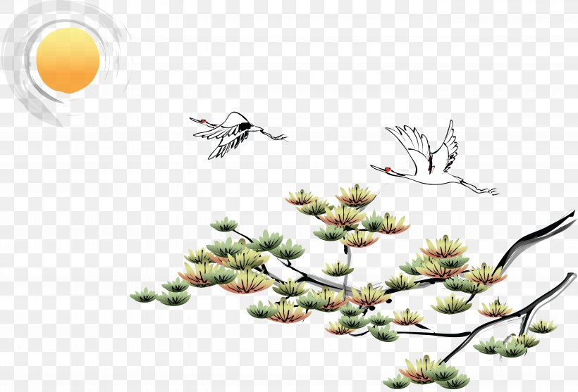 Ink Wash Painting Chinoiserie Desktop Wallpaper Wallpaper Png
