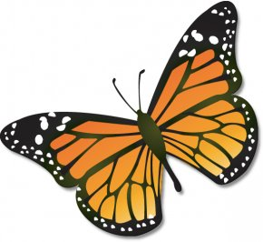Butterfly Clip Art - Monarch Butterfly Insect Caterpillar Clip Art PNG