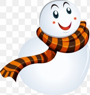Hand-painted Bald Snowman Scarf Pattern - Snowman Scarf Computer File PNG