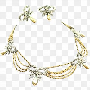 Vintage Gold - Earring Necklace Jewellery Pearl Chain PNG
