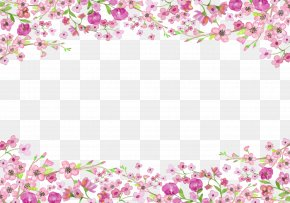 Ask People To Recover The Rose Borders - Flower Euclidean Vector PNG