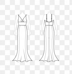 Mermaid Tail - Dress Clothing Fashion Design Drawing Pattern PNG