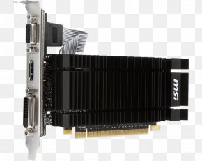 Computer - Graphics Cards & Video Adapters NVIDIA GeForce GT 710 MSI GT 710 2GD5H-LP Video Card GDDR5 SDRAM PNG