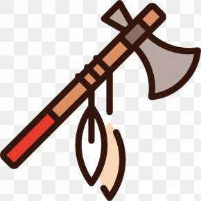 A Sharp Ax - Weapon Native Americans In The United States Axe Tomahawk Icon PNG