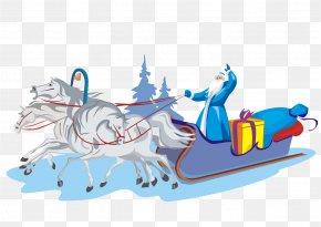 Santa Sleigh - Ded Moroz Snegurochka Santa Claus New Year Grandfather PNG