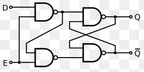 Schematic Diagram - Flip-flop NAND Gate Circuito Sequencial NOR Gate PNG