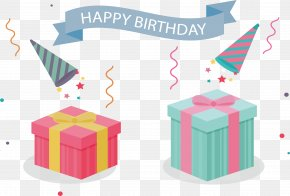 Two Lovely Gift Boxes - Gift Birthday PNG