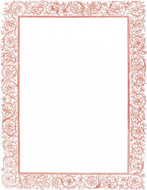 Pretty Page Borders - Victorian Era Clip Art PNG