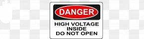 High Voltage - Signage Label High Voltage PNG