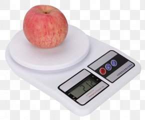 Weighing Scale With Apple - Weighing Scale Measurement Kitchen Weight Kilogram PNG
