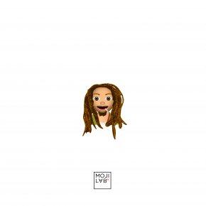 Bob Marley - Emoji Sticker Heart Creative Industries LLC Emoticon PNG