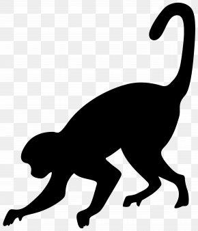 Monkey Silhouette Clip Art Image - Silhouette Clip Art PNG