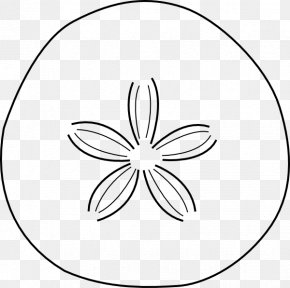 Starfish Outline - White Circle Area Pattern PNG