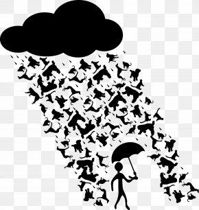 Rain - Dog Cat Rain Idiom Clip Art PNG