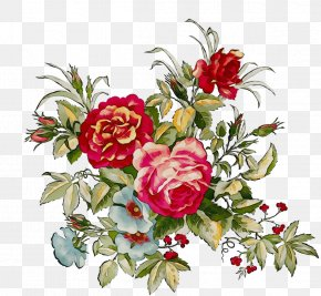 Flower Bouquet Peony Floral Design Painting PNG