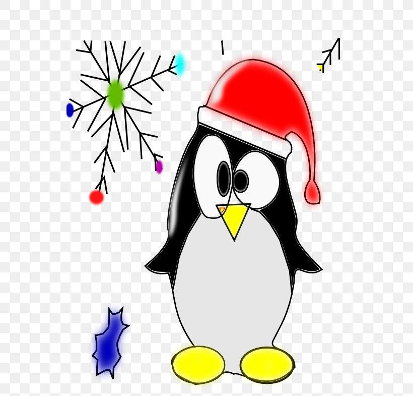 Penguin Christmas Santa Claus Candy Cane Clip Art, PNG, 555x785px, Penguin, Area, Artwork, Beak, Bird Download Free