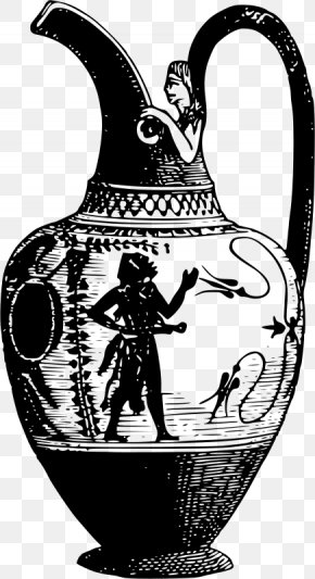 Ancient Warrior - Pottery Of Ancient Greece Vase Drawing PNG
