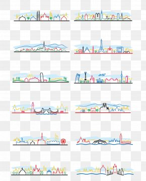Artwork Building - The Architecture Of The City Silhouette Illustration PNG