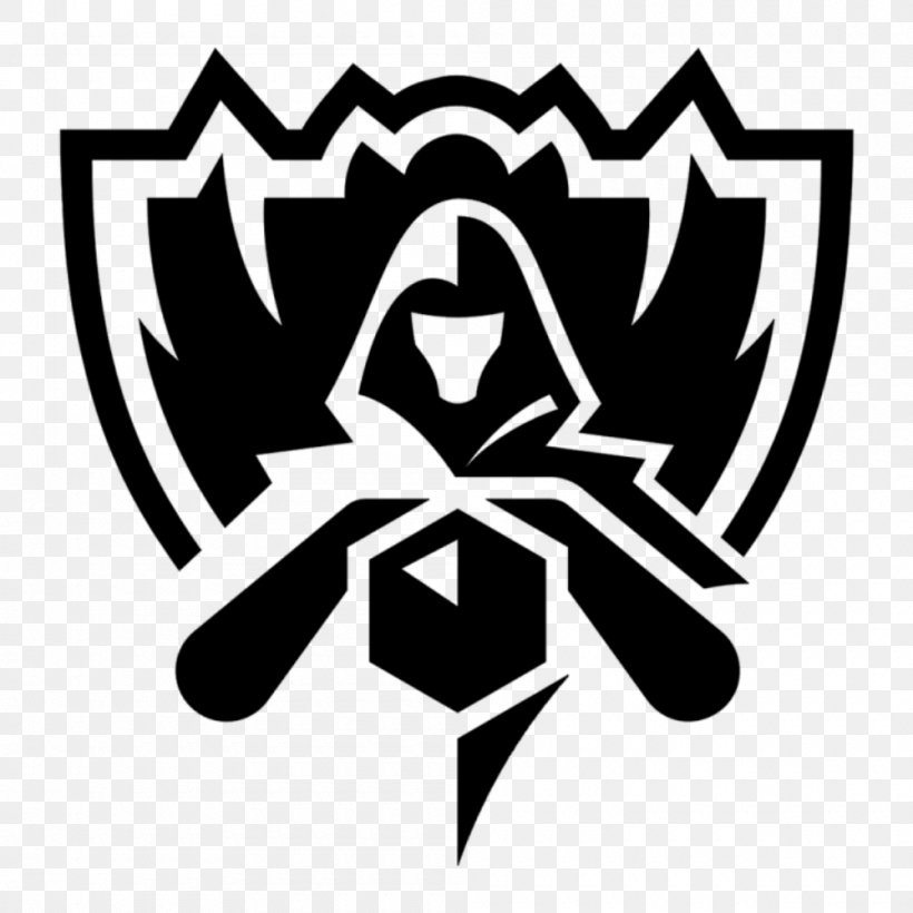 2016 League Of Legends World Championship European League Of Legends Championship Series Tencent League Of Legends Pro League, PNG, 1000x1000px, League Of Legends, Black And White, Brand, Championship, Counter Logic Gaming Download Free