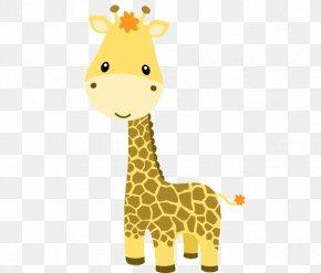 Giraffe Solo Cliparts - Baby Jungle Animals Baby Zoo Animals Clip Art PNG