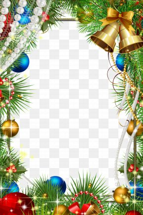 Christmas Frame - Christmas Decoration Picture Frame PNG