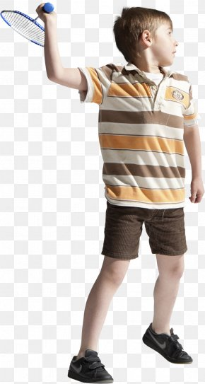 Boy Playing Badminton - Boy Child PNG