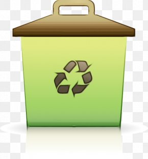 Recycling Bin Logo - Dumpster Waste Sorting Fire Design PNG