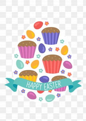 Easter - Easter Egg Cake Clip Art PNG