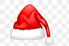 Hand-painted Christmas Hats Vector PNG