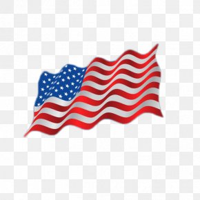 American Flag Flying - Flag Of The United States PNG