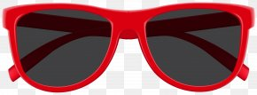Red Sunglasses Clip Art Image - Sunglasses Red Eyewear PNG