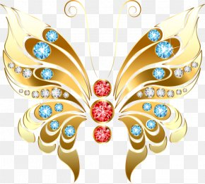 Butterfly - Butterfly Wall Decal Clip Art PNG