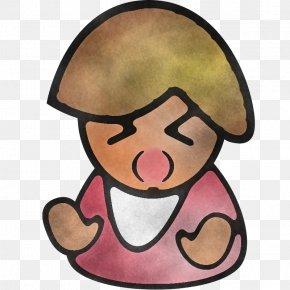 Cap Smile - Cartoon Facial Expression Nose Pink Cheek PNG