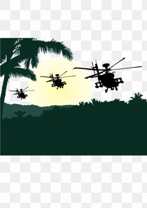 Vector Jungle - Helicopter Euclidean Vector Download Silhouette PNG
