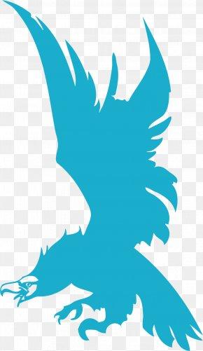 Sky Blue Eagle - Beak Line Art Graphic Design Clip Art PNG