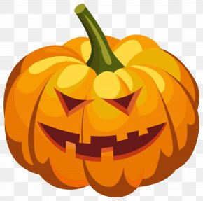 Scary Pumpkin Lantern PNG Clipart Image - Pumpkin Jack-o'-lantern Halloween Clip Art PNG