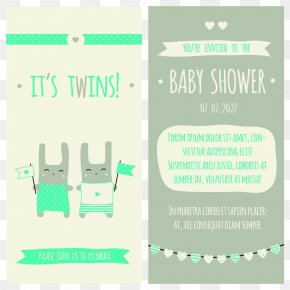 Wedding Invitation Vector - Wedding Invitation Baby Shower Twin Infant PNG