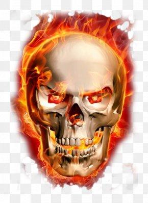 Burning Skeleton PNG