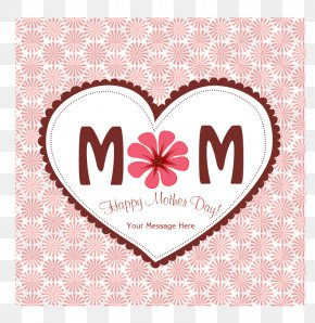 Mother's Day Heart-shaped Pattern - Mother's Day Clip Art PNG