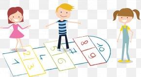 Kids Playing Hopscotch - Hopscotch Child PNG